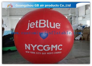 Inflatable Big Publicité Ballons, Red Air Balloon Publicité Helium billes fournisseur